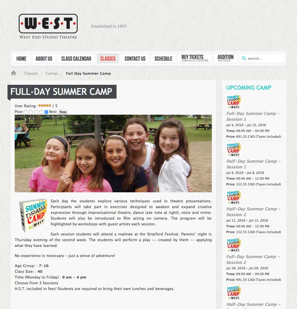WEST WebPage Sample1